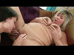 Old and young lesbian using toy 2 bvr