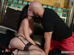 hardcore, ravenbayxxx.com, brunette, dildo, big boobs, pussy licking, busty, doggystyle, hd, reverse cowgirl, lingerie, heels, shaved snatch, fingering, deepthroat