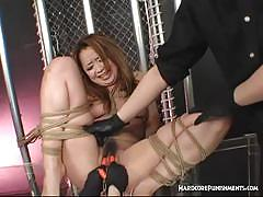 Get kinky with tied hairy pussy slave