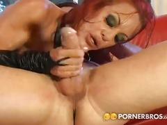Redheaded milf deep anal fucking