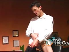 Sexy male playing with his big hard cock in solo.