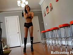Ball busting punishment