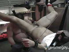Lycan fucks his friend slavebare in the ass