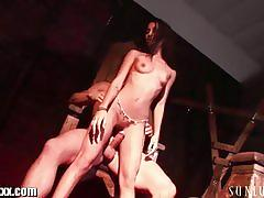 Sex slave amia miley gets fucked by her master