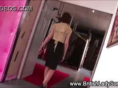 Bound mature lady sonia stripped
