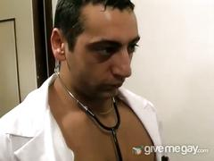 Hunky doctor nails his patient's ass