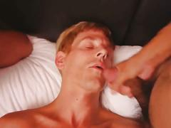 Blonde boy versus two asian anal holes