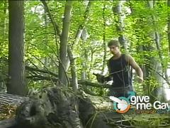 Gorgeous latino hunks orgy in the forest