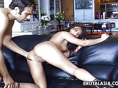 Asian milf brutally ass fucked