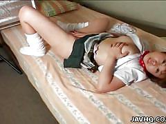 Naughty asian schoolgirl