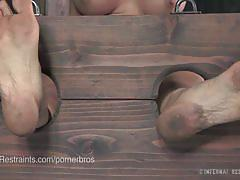 Cherie deville tortured in the dungeon