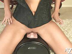 Carmella bing riding the sybian