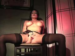 Jerilyn exposes her pierced clit