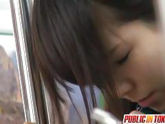 Japanese schoolgirl fucked in public in the subway