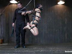 Hispanic slut hanged and tortured