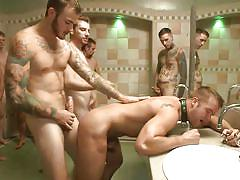tattoo, cumshot, public sex, gay bondage, cum on face, gay anal, shower fuck, gay gang bang, bound in public, kink men, jessie colter, connor patricks, christian wilde