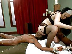 milf, lesbian, bdsm, interracial, pussy licking, tit torture, ebony babe, nun, whipped ass, kink, chanel preston, ana foxxx