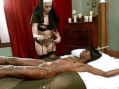milf, lesbian, bdsm, interracial, pussy licking, tit torture, ebony babe, nun, whipped ass, kink, chanel preston, ana foxxx