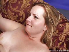 Chubby blonde filled with spunk @ big fat cream pie #02