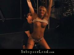 blonde, blowjob, spanking, cocksucking, domination, bdsm, fetish, bondage, submission, slave, slapping, tied, whipping, kinky, leash, suspension