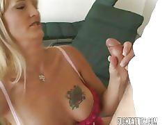 Blonde milf gets pussy gaped and fucked