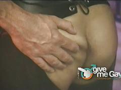 Kinky anal bashing hunks in leather