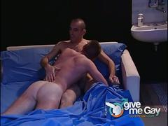 Fantasy late night gay blowjob