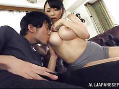 Japanese slut strokes off her boyfriend