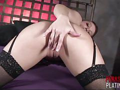 Sexy superstar dani daniels in black fishnet