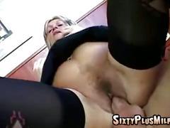 Hardcore pussy fucking grandma