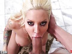 helly mae hellfire, big dick, big tits, cumshot, blonde, milf, handjob, mom, mature, gagging, pov, deepthroat, face fucking, stepmom