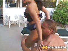big ass, babe, big dick, brunette, cumshot, hardcore, pussy, outdoor,