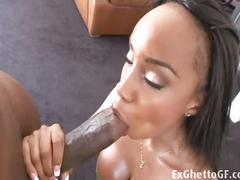 Big breasted brunette ebony fucked on pool table.