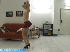 Cute czech blonde aneta lapdance