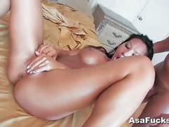 Hot brunette babe asa akira fucked and facialized