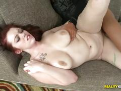 Hot and busty redhead gets fucked hard