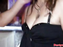 Czech girls banging and squirting in a club