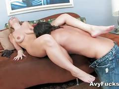 Blonde avy scott gets a pounding by nick manning