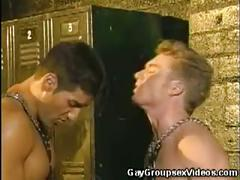 Extreme cock eating hunks in leather