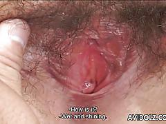 Runa gets her hairy pussy fingered