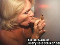 Wild anal loving milf pleases glory hole cocks