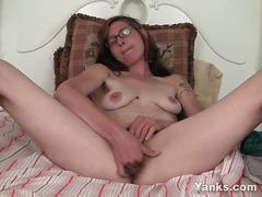 masturbation, amateur, brunette, hairy pussy, solo,
