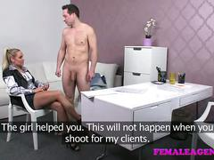 Femaleagent sexy milf clams nervous studs fears during casting