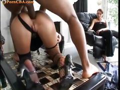 babe, big dick, threesome, hardcore, interracial, stockings,