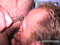 Two horny hairy daddies fucking