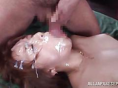 She likes to feel a warm jizz on her face