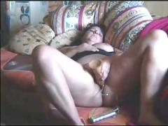 German bbw dildoing and bj