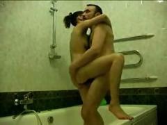 Hot couple in bath