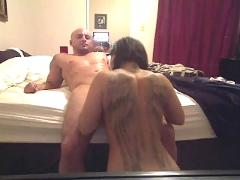 Couple fucking on the bed!