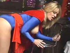 Supergirl in leotard sex